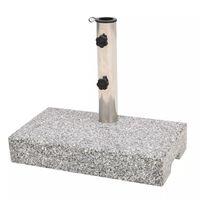 vidaXL Base para guarda-sol em granito retangular 25 kg