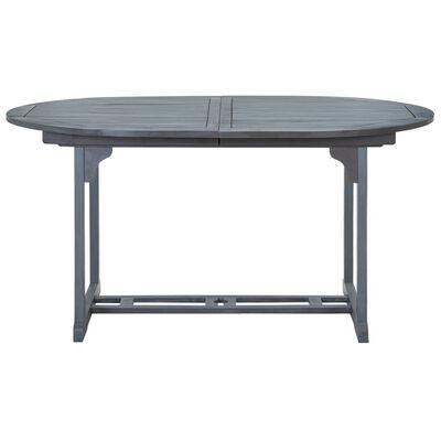vidaXL Mesa de jardim 200x100x74 cm madeira de acácia maciça cinzento