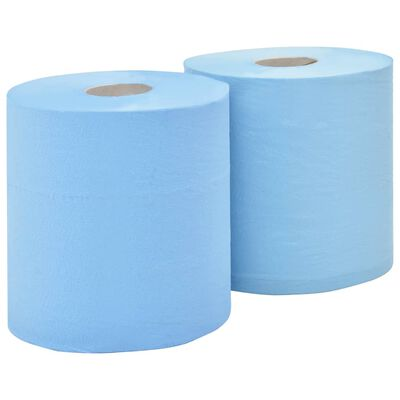 vidaXL Papel de limpeza industrial folha tripla 2 rolos  38 cm