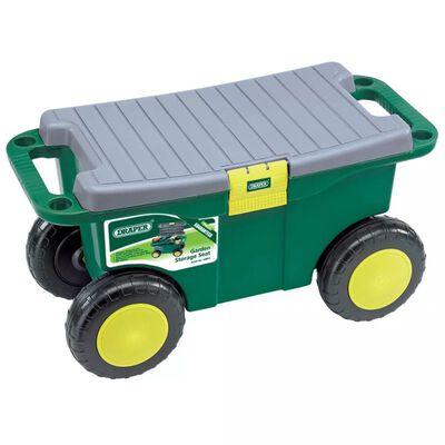 Draper Tools Carro/assento ferram. jardim 56x27,2x30,4cm verde 60852