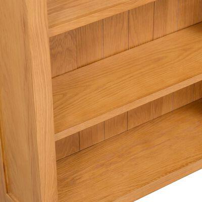 vidaXL Estante com 3 prateleiras 70x22,5x82 cm madeira carvalho maciça