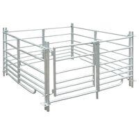 Curral/recinto para ovelhas c/ 4 painéis aço galvanizado 137x137x92 cm