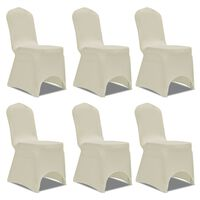Capa elástica para cadeira / 6 peças, Creme