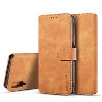 Capa Samsung Galaxy A7 com suporte para cartão PU leather - brown