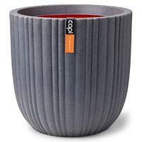 Capi Vaso oval Urban Tube 54x52 cm cinzento-escuro