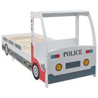 vidaXL Cama carro da policia para crianças com secretária 90x200 cm