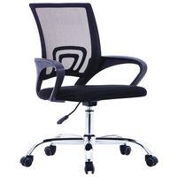 vidaXL Cadeira de escritório com encosto em malha tecido preto