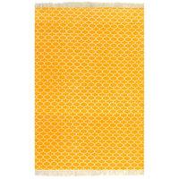 vidaXL Tapete Kilim em algodão 120x180 cm com padrão amarelo
