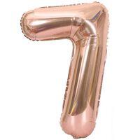 Balão Numérico 102 Cm, Numero 7 - Rosa