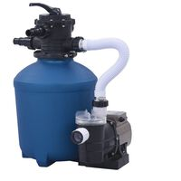 vidaXL Bomba de filtro de areia com temporizador 530 0980 L/h