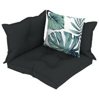 vidaXL Almofadões para sofás de paletes 4 pcs tecido antracite