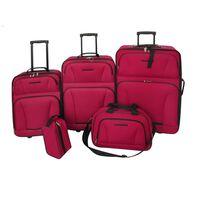 vidaXL Conjunto malas de viagem 5 pcs vermelho