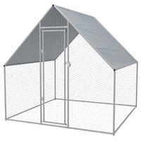vidaXL Galinheiro de exterior em aço galvanizado 2x2x1,92 m