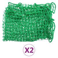 vidaXL Redes de reboque 2 pcs 2,5x4 m PP