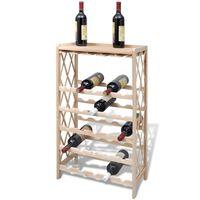 vidaXL Garrafeira para 25 garrafas madeira de abeto maciça