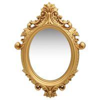 vidaXL Espelho de parede estilo castelo 56x76 cm dourado