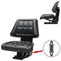 vidaXL Assento de trator com suspensão preto