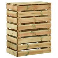 vidaXL Caixa de compostagem ripada 80x50x100 cm  pinho impregnado