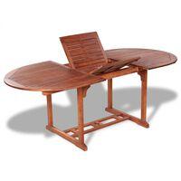vidaXL Mesa de jardim 200x100x74 cm madeira de acácia maciça