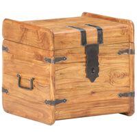 vidaXL Baú 40x40x40 cm madeira de acácia maciça
