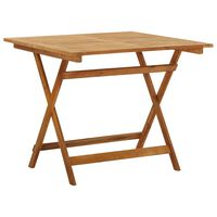 vidaXL Mesa de jardim dobrável 90x90x75 cm madeira de acácia maciça
