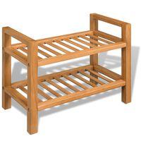 vidaXL Sapateira 3 prateleiras 100x27x59,5 cm madeira carvalho maciça