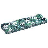 vidaXL Almofadão p/ sofá de jardim 120x40x12cm tecido padrão às flores