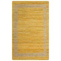 vidaXL Tapete artesanal em juta amarelo 160x230 cm