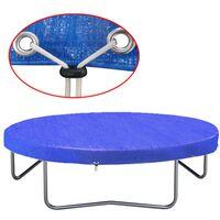 vidaXL Cobertura para trampolim PE 360-367 cm 90 g/m²