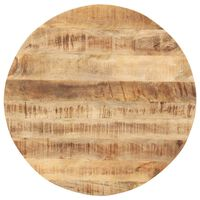 vidaXL Tampo de mesa redondo madeira mangueira maciça 15-16 mm 50 cm