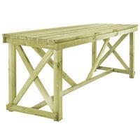 vidaXL Mesa de jardim 160x79x75 cm madeira