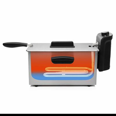 Tristar Fritadeira 2000 W 3 L aço inoxidável prateado