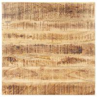 vidaXL Tampo de mesa madeira de mangueira maciça 25-27 mm 80x80 cm