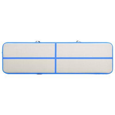vidaXL Colchão de ginástica insuflável c/ bomba 800x100x15 cm PVC azul