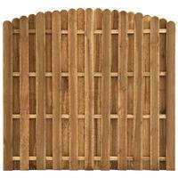 vidaXL Painel de vedação em madeira de pinho 180x(155-170) cm