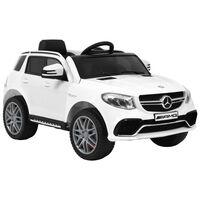 vidaXL Carro para crianças Mercedes Benz GLE63S plástico branco