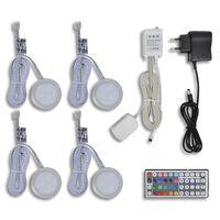 Conjunto de 4 lâmpadas de LED para armários de cozinha