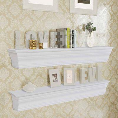 vidaXL Estantes de parede Aaliyah 2 pçs, branco