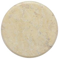 vidaXL Tampo de mesa Ø40x2,5 cm mármore cor creme