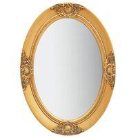 vidaXL Espelho de parede estilo barroco 50x70 cm dourado
