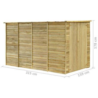 vidaXL Casa/abrigo jardim 315x159x178 cm madeira de pinho impregnada