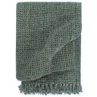 vidaXL Manta em algodão 125x150 cm verde escuro