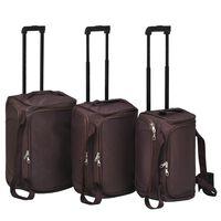 vidaXL Conjunto de malas de viagem 3 pcs café