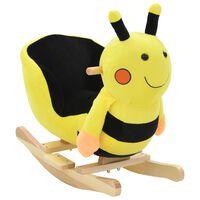 vidaXL Animal de baloiçar abelhão em pelúcia 60x32x57 cm amarelo