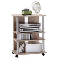 FMD Móvel para TV/HI-Fi com 3 compartimentos 65x40x79,2 cm carvalho