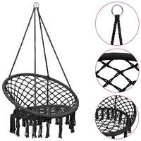 vidaXL Cadeira de baloiço em rede 80 cm antracite