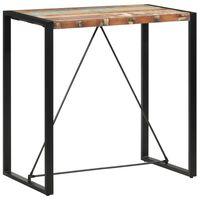vidaXL Mesa de bar 110x60x110 cm madeira recuperada maciça