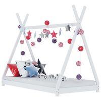 vidaXL Estrutura de cama para crianças 80x160 cm pinho maciço branco