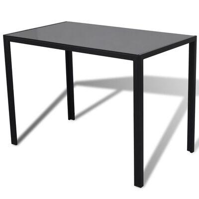 vidaXL Conjunto mesa de jantar 5 pcs preto