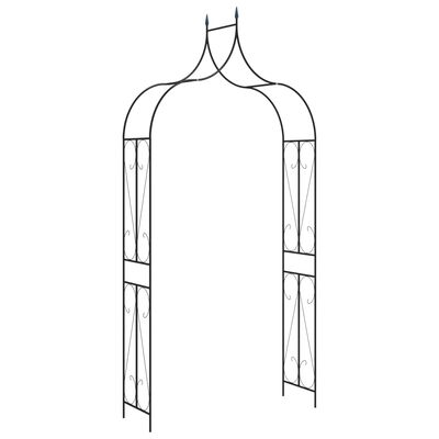 vidaXL Arco de jardim 120x38x258 cm ferro preto